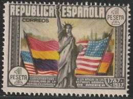 1938. (*) Edifil: 763. CL ANIVERSARIO DE LA CONSTITUCION DE EEUU - 1931-Hoy: 2ª República - ... Juan Carlos I