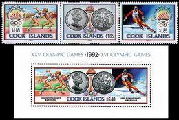 ** Cook Islands - 1991 - Olympic Games 1992 - Mi. 1307-9, Bl. 202 - Summer 1992: Barcelona