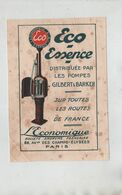Eco Essence Pompes Gilbert Et Barker L'Economique Paris - Publicités
