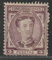 1876. * Edifil: 181. ALFONSO XII - 1875-1882 Royaume: Alphonse XII