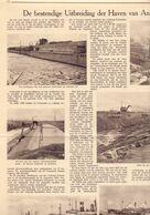 Orig. Knipsel Coupure Artikel Tijdschrift Magazine - Uitbreiding Haven Van Antwerpen - 1931 - Old Paper