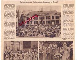 Orig. Knipsel Coupure Artikel Tijdschrift Magazine - Eucharistie Kruistocht Te - Brussel - 1931 - Alte Papiere