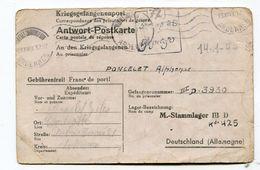 CPA Militaria  :  Franchise Militaire  1944 Famille Poncelet à Charleville  VOIR  DESCRIPTIF  §§§§ - Guerra 1939-45