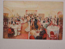 Bruxelles : Un Diner Au Savoy - Aquarelle De G. Goodchild - Cafés, Hoteles, Restaurantes