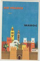 ILLUSTRATEURS AIR FRANCE MAROC SIGNE JEAN FORTIN - Autres Illustrateurs