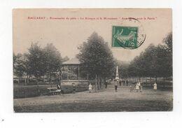 Cpa 54 BACCARAT Monument Et Kiosque à Musique Promenades Du Pàtis Guerre 1870/71 - Baccarat