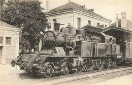 CPA Train - 597 - Locomotives Du Sud-Est (ex P.L.M.) - 63 - Gare De Riom - Machine N232 AT18 - Riom