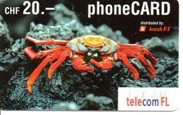 Crabe Corail Mer Télécarte Prépayée Suisse Phonecard BD (D 281) - Svizzera