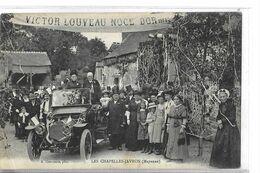 TOP  LES CHAPELLES JAVRON   VOITURE PERSONNAGES  NOCE D OR VICTOR LOUVEAU  Pli Coin  DEPT 53 - France