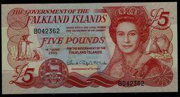 FALKLAND ISLANDS 2005 BANKNOTS 5 POUNDS UNC VF!! - Falkland Islands