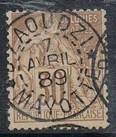 COLONIES GENERALES N°55  Avec Oblitération De Mayotte - Used Stamps