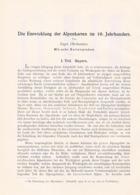 637 Oberhummer Entwicklung Alpenkarten Bayern Artikel Von 1902 !! - Other