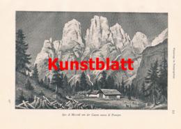 646 Radio-Radiis Prampergebirge Pramper Dolomiten Artikel Von 1902  !! - Stampe