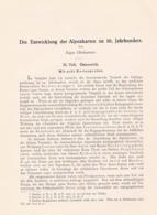 647 Oberhummer Entwicklung Alpenkarten Österreich Artikel Von 1903 !! - Wereldkaarten