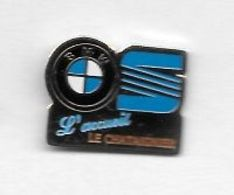 Pin's  Ville, Garage  Automobiles  BMW, SEAT, L' Accueil  LE  CHÂTAIGNIER  Verso  ANTIBES  ( 06 ) - BMW