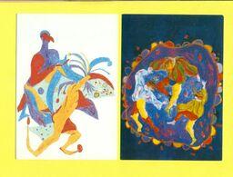 CARNEVALE - TRENTO - CARNEVALE 1990 - SERIE DI 4 CARTOLINE NUOVE - Carnaval