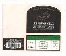Etiquette Très Vieux Rhum  Mis En Fût 2003 : Rhum Vieux Agricole 52,8° 70cl  Bielle - Marie Galante - GUADELOUPE - - Rhum