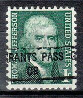 USA Precancel Vorausentwertung Preo, Locals Oregon, Grants Pass 841 - Estados Unidos