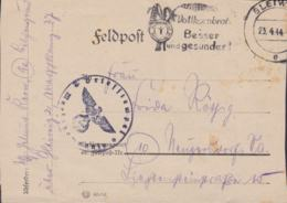 German Feldpost WW2: Marschkompanie 27 P/m Gleiwitz 23.4.1944 - Letter  (G113-4) - Militaria
