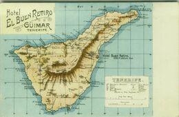 SPAIN - HOTEL EL BUEN RETIRO - GUIMAR -  TENERIFE - POSTCARD MAP - 1900s ( BG8833) - Tenerife