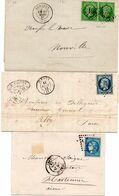 France 3 Lettres Période Classique--no 20 Paire--no 10 Et 20c Bordeaux--Tb - 1849-1876: Classic Period