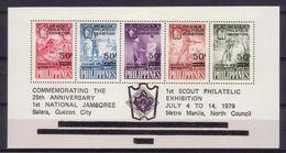 Philippines Souvenir Sheet Sc. C112 MNH 1979 1st Scout Philatelic Exhibition - Filippijnen