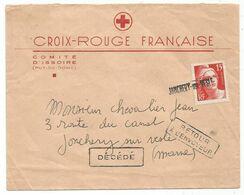 GANDON 15FR CENTENAIRE SEUL LETTRE ANNULATION EN ARRIVEE JONCHERY SUR VESLE - 1945-54 Marianne De Gandon