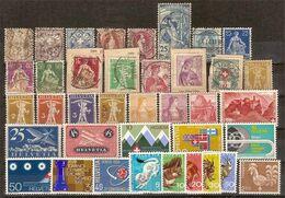 (Fb).Svizzera.Lotto Di 38 Val Nuovi E Usati Dal 1882 Al 1975 (218-16) - Sammlungen