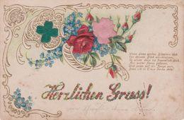 """Deutschland/Bayern 1906. Prägekarte """"Herzlichen Gruß"""", Gebraucht - Otros"""