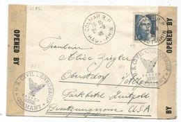GANDON 10FR GRAVE SEUL LETTRE COLMAR RP 25.9.1946 POUR ZONE USA GERMANY CENSURE AU TARIF - 1945-54 Marianne Of Gandon
