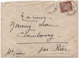 1940 Lettre De Rioz Haute-Saône Pour Chambornay TAXE 1F Banderole Duval Utilisé Comme Timbre-poste? (tarif Lettre = 1F) - Taxes