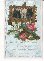 LA CROIX-ST-LEUFROY : Carte Souvenir, L'Eglise - Très Bon état - Autres Communes