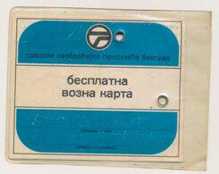 ANNUALY FREE BUS TICKET, FOR PEOPLE OLDER THAN 65 YEARS, Transportation Serbia GSP Beograd - Week-en Maandabonnementen