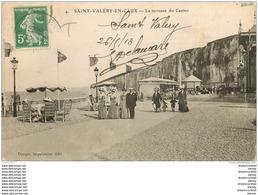 76 SAINT-VALERY-EN-CAUX. Terrasse Du Casino 1913 - Saint Valery En Caux