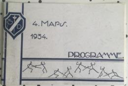 PROGRAMME 4 MARS 1934 - CERCLE D'ESCRIME BRUXELLES - SOIREE DE GALA - THEATRE PATRIA - Escrime