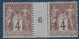 France - Sage N° 88 -  Paire Avec Millésime  6 ** - Cote : 60 € - Millesimes