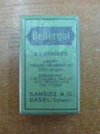AC - BELLERGAL SANDOZ SAMPLE FOR DOCTORS VINTAGE MEDICINE UNOPENED BOX FOR COLLECTION - Medical & Dental Equipment