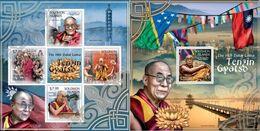 Salomon 2013, Dalai Lama, Buddish Temple, Bridge, 4val In BF +BF - Buddhismus