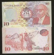 Lesotho 10 Maloti 1990 Pick 11 UNC - Lesoto
