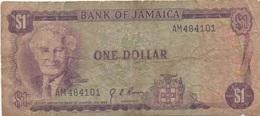 Jamaïque Jamaica : 1 Dollar 1960 (très Mauvais état) - Jamaica