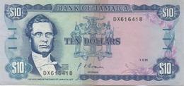 Jamaïque Jamaica : 10 Dollars 1991 (déchiré En Deux Parties) - Jamaique