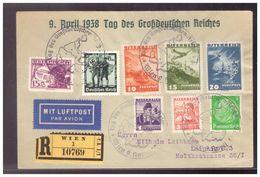 Dt-Reich (009913) Propaganda Einschreiben, Luftpost MIF Österreich, Dt-Reich, 9.4.1938, Tag Des Großdeutschen Reichs - Storia Postale