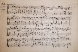 Spartito Manoscritto - Notturno - Op. 37-1  F. Chopin Secolo XIX - Sin Clasificación