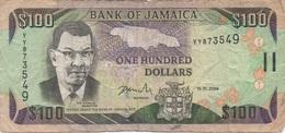 Jamaïque Jamaica : 100 Dollars 2004 (mauvais état) - Jamaique