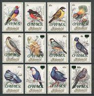 AITUTAKI 1986 Service N° 17/28 ** Neufs MNH Superbes C 20.50 € Faune Oiseaux Du Pacifique Poephila Geopelia Bird Animaux - Aitutaki