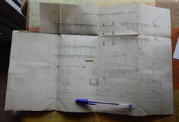 Aiguilles, Croisements, Signaux Et Blocks-sytems - 1885 - Lot De 4 Planches - Chemins De Fer - Maschinen