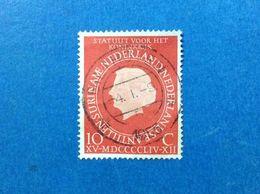 1954 PAESI BASSI OLANDA NEDERLAND 10 C FRANCOBOLLO USATO STAMP USED - Used Stamps