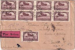 MAROC 1932  PLI AERIEN TAXE POSTE AUX ARMEES - Morocco (1891-1956)