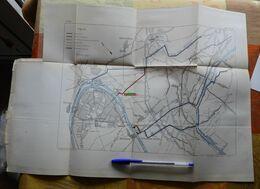 Plan Des égouts De Paris Allant à Gennevilliers  - 1885 - Obras Públicas