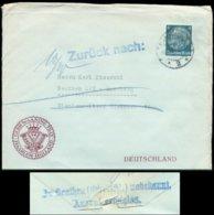14462 DR Brief Emmerich - Retour Oberschlesien Beuthen 1933 , Bedarfserhaltung. - Germany